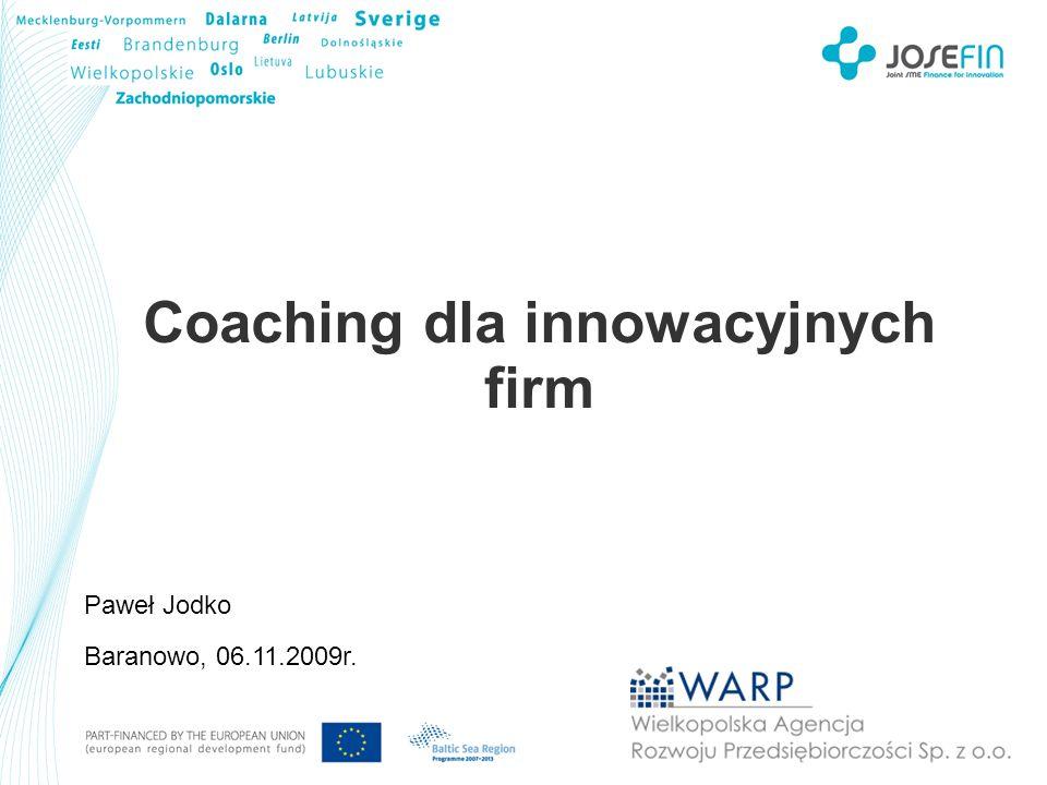 Coaching dla innowacyjnych firm