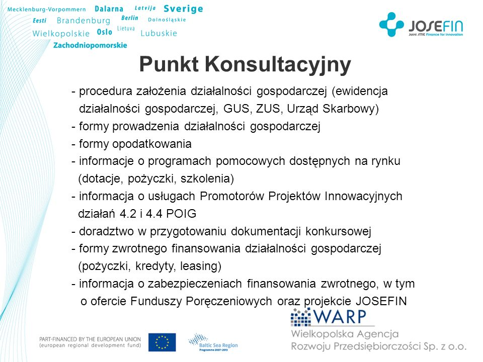 Punkt Konsultacyjny procedura założenia działalności gospodarczej (ewidencja. działalności gospodarczej, GUS, ZUS, Urząd Skarbowy)