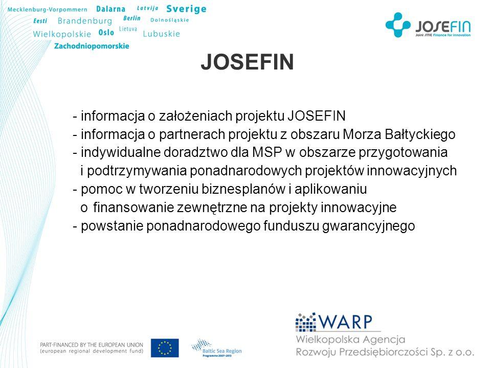 JOSEFIN - informacja o założeniach projektu JOSEFIN