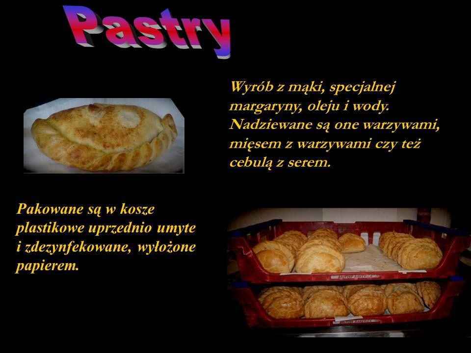 PastryWyrób z mąki, specjalnej margaryny, oleju i wody. Nadziewane są one warzywami, mięsem z warzywami czy też cebulą z serem.