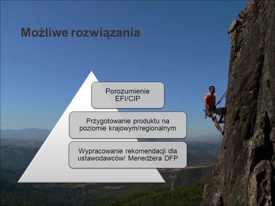 Możliwe rozwiązania Porozumienie EFI/CIP
