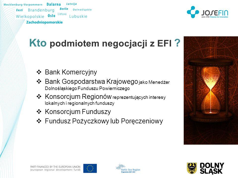 Kto podmiotem negocjacji z EFI