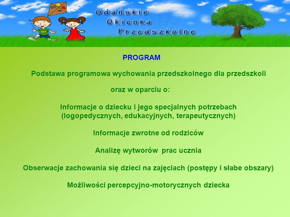 Podstawa programowa wychowania przedszkolnego dla przedszkoli