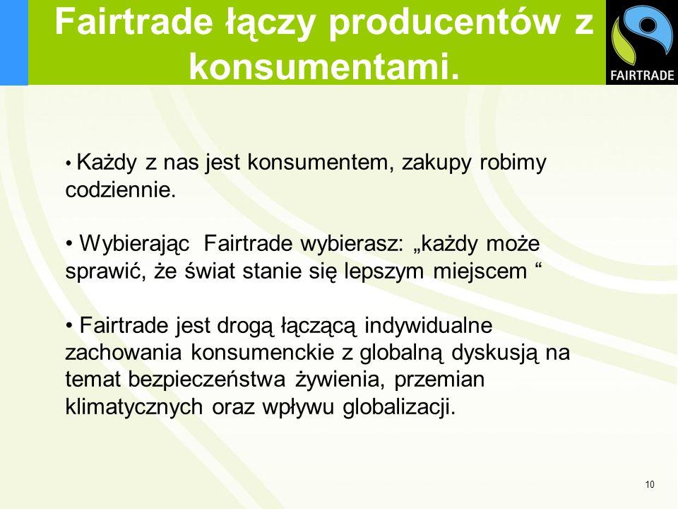 Fairtrade łączy producentów z konsumentami.