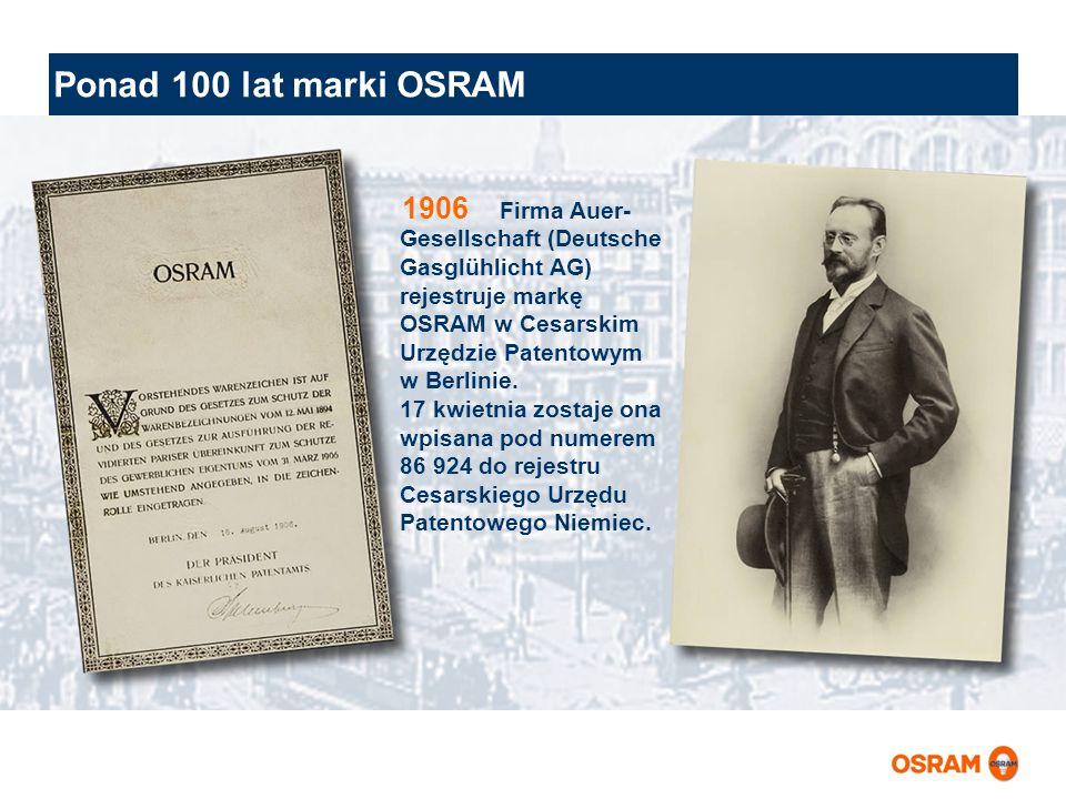 Ponad 100 lat marki OSRAM 1906.