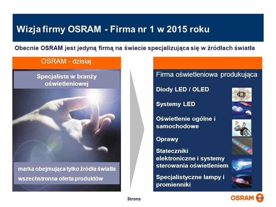 Wizja firmy OSRAM - Firma nr 1 w 2015 roku
