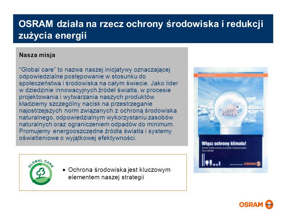 OSRAM działa na rzecz ochrony środowiska i redukcji zużycia energii