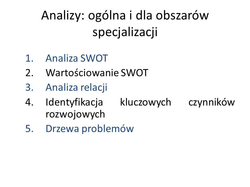 Analizy: ogólna i dla obszarów specjalizacji