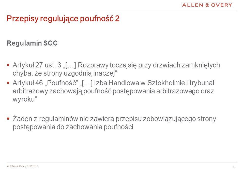 Przepisy regulujące poufność 2