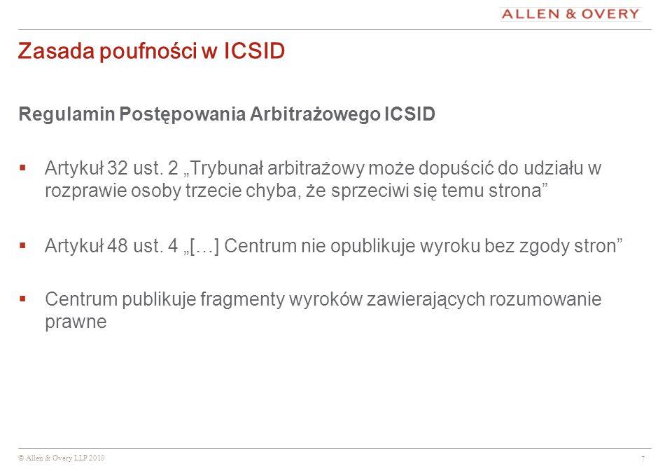 Zasada poufności w ICSID