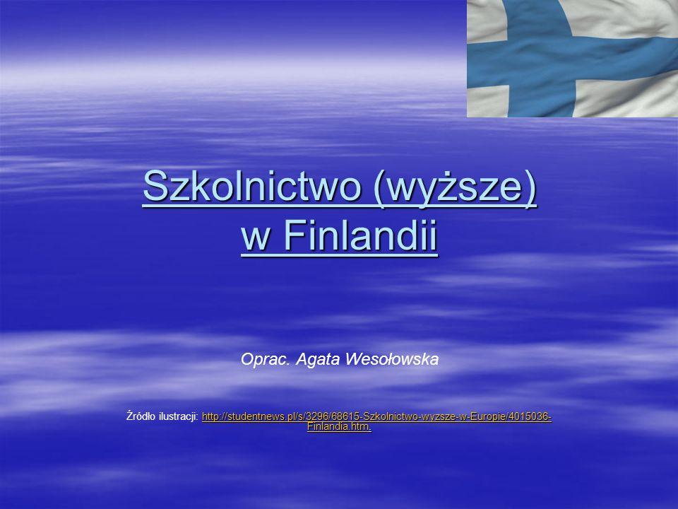Szkolnictwo (wyższe) w Finlandii