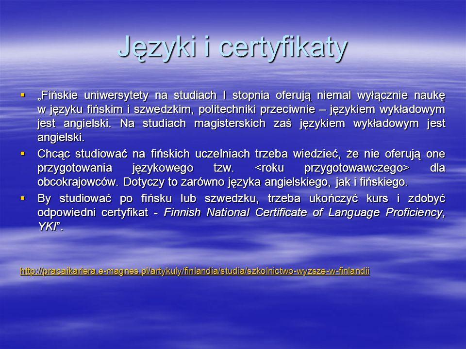 Języki i certyfikaty