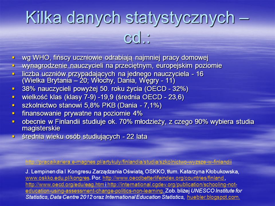 Kilka danych statystycznych – cd.: