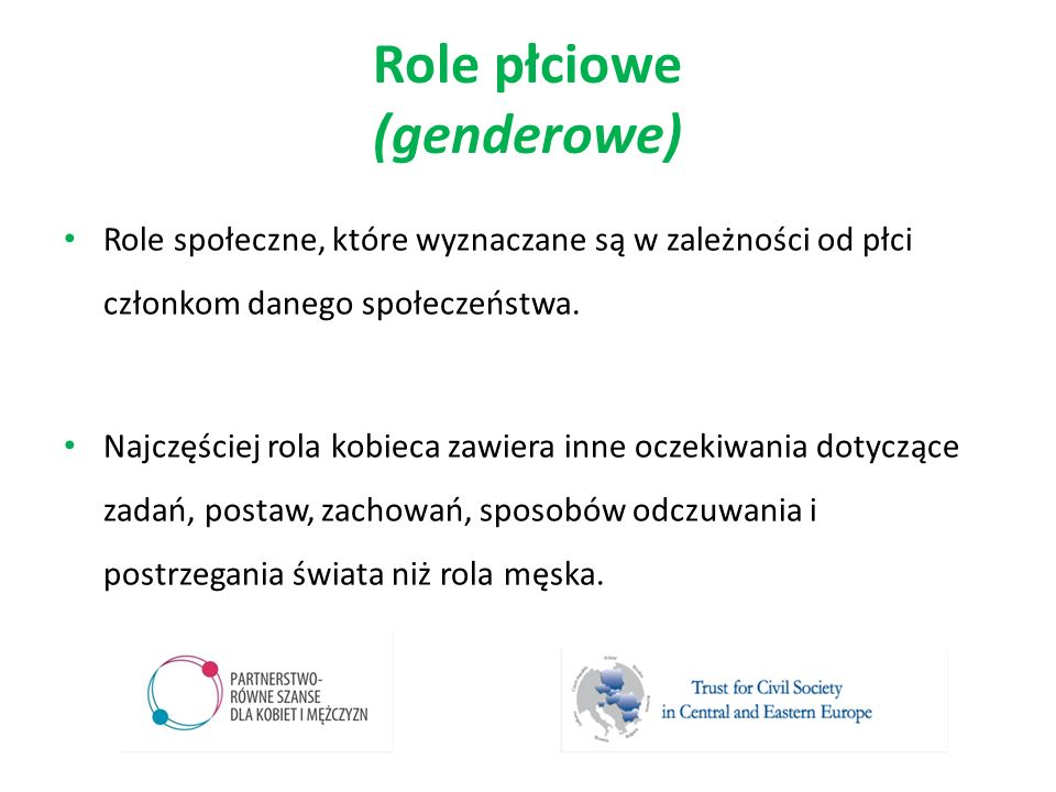 Role płciowe (genderowe)