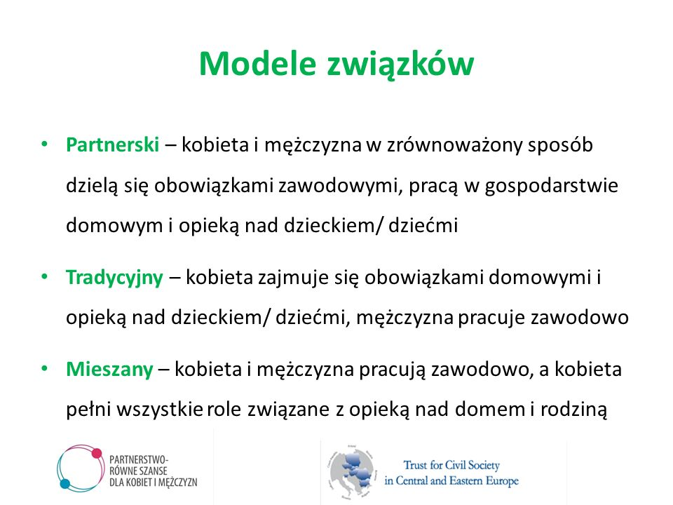 Modele związków
