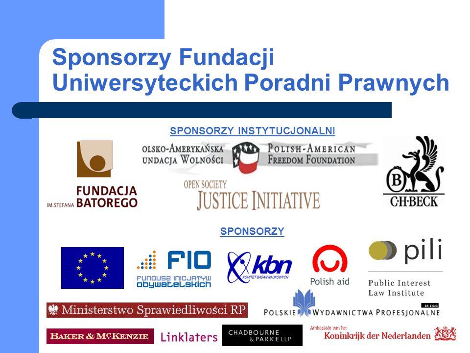 Sponsorzy Fundacji Uniwersyteckich Poradni Prawnych
