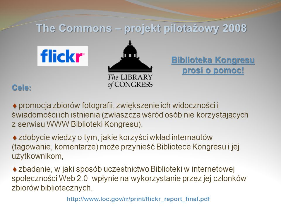 The Commons – projekt pilotażowy 2008