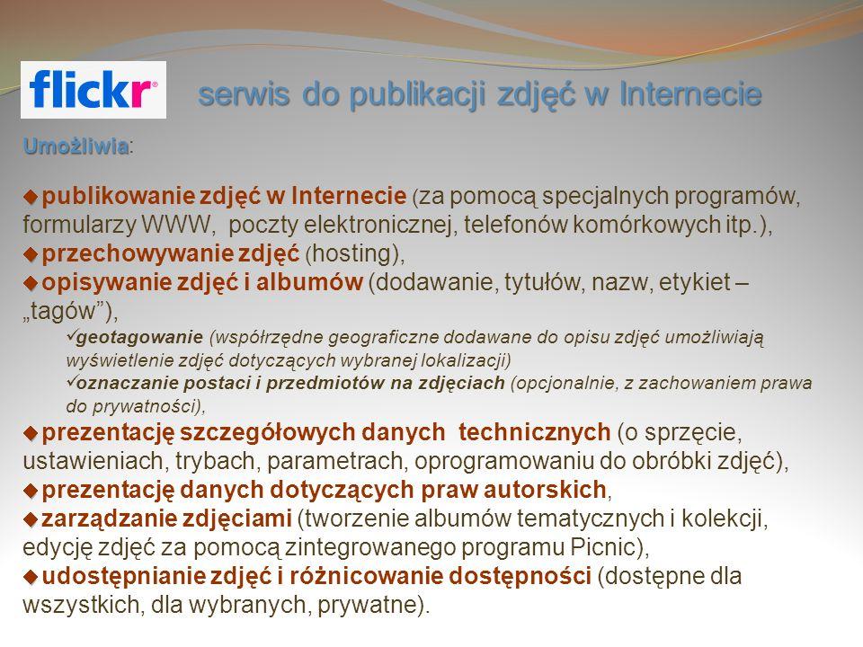 serwis do publikacji zdjęć w Internecie