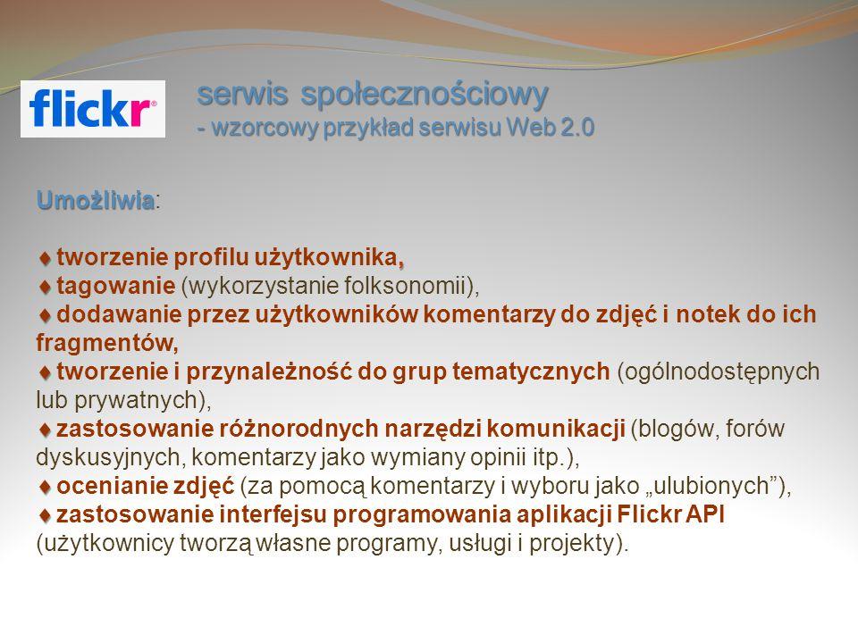 serwis społecznościowy - wzorcowy przykład serwisu Web 2.0