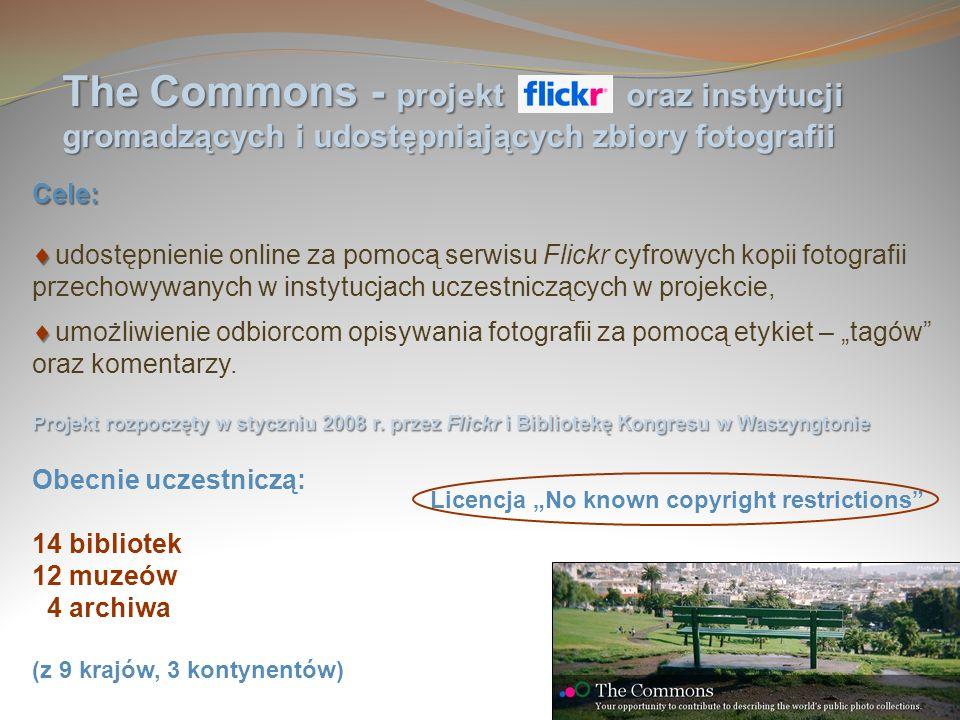 The Commons - projekt oraz instytucji gromadzących i udostępniających zbiory fotografii