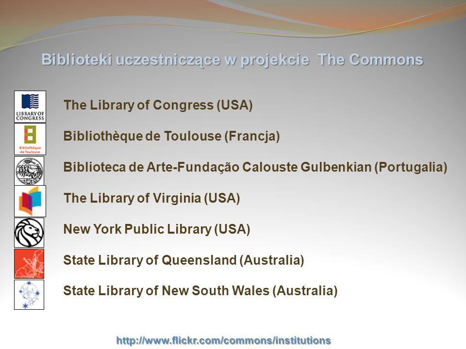 Biblioteki uczestniczące w projekcie The Commons