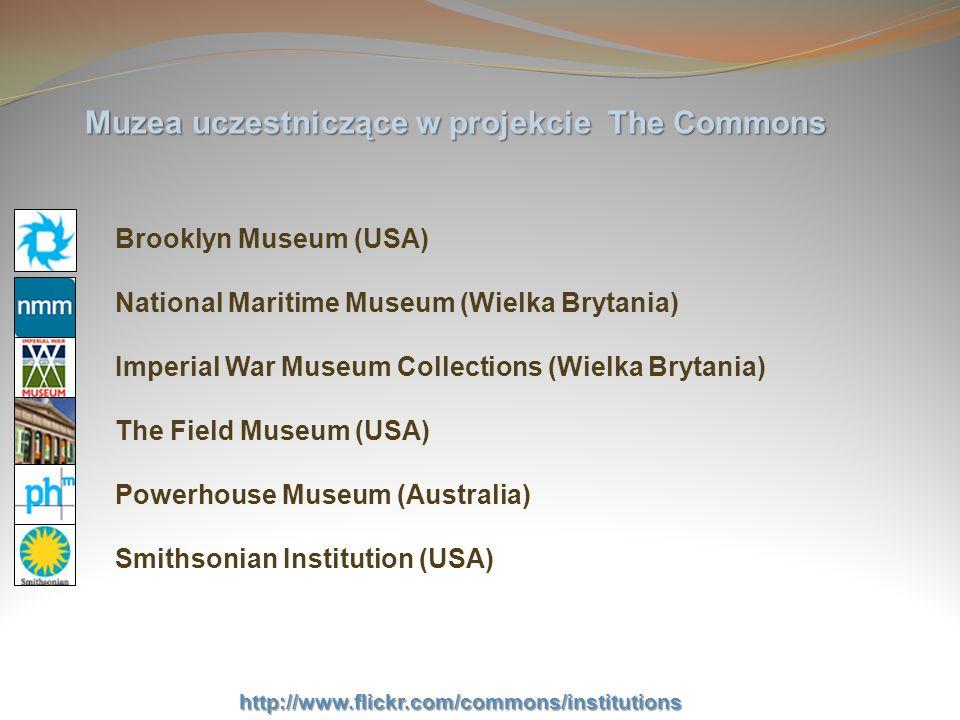 Muzea uczestniczące w projekcie The Commons