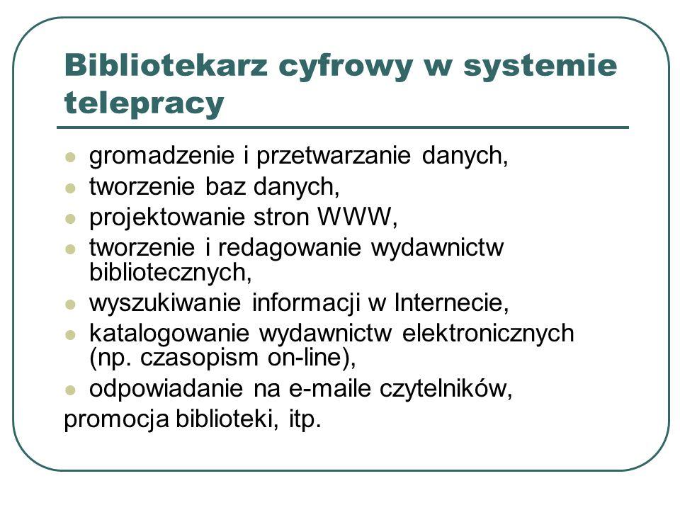 Bibliotekarz cyfrowy w systemie telepracy