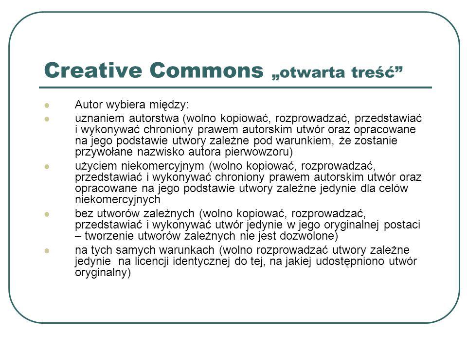 "Creative Commons ""otwarta treść"