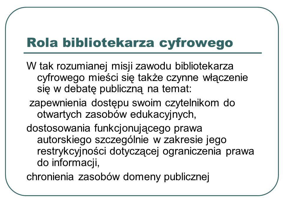 Rola bibliotekarza cyfrowego