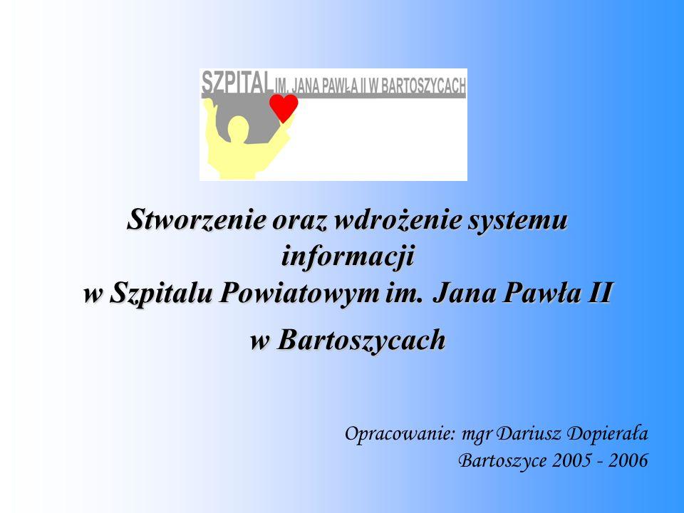 Stworzenie oraz wdrożenie systemu informacji w Szpitalu Powiatowym im