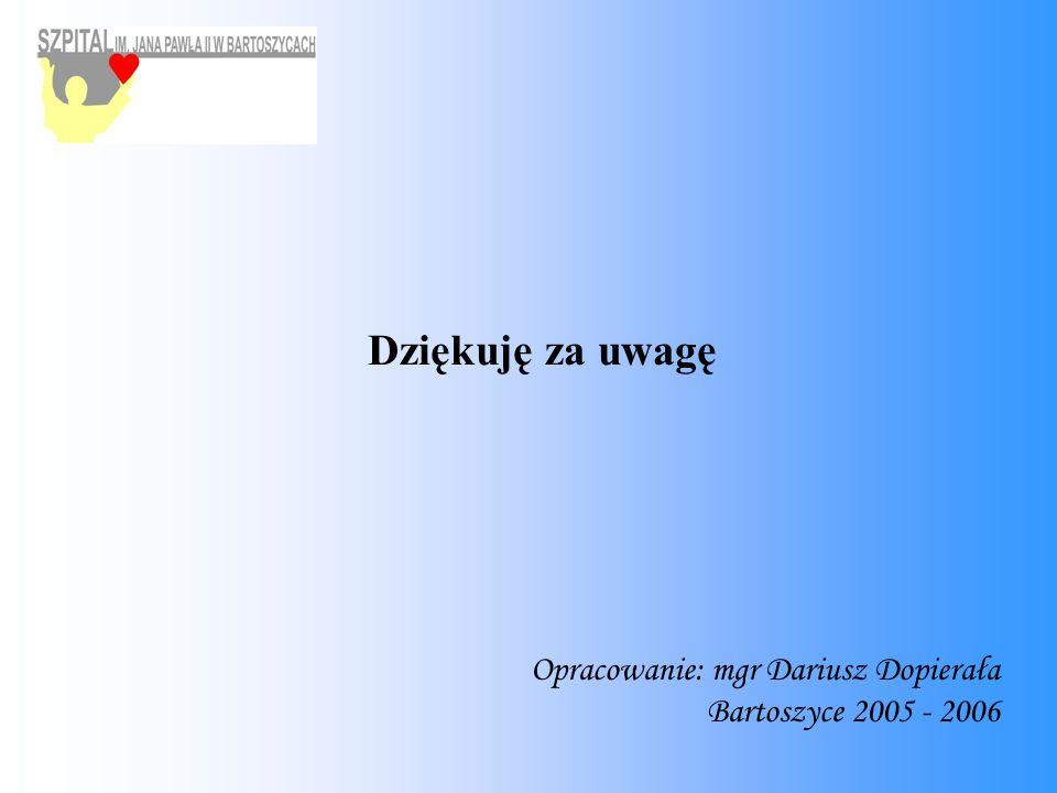 Dziękuję za uwagę Opracowanie: mgr Dariusz Dopierała