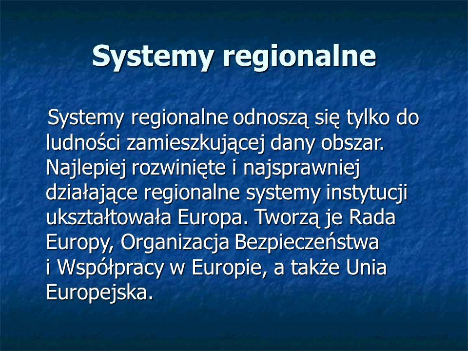 Systemy regionalne