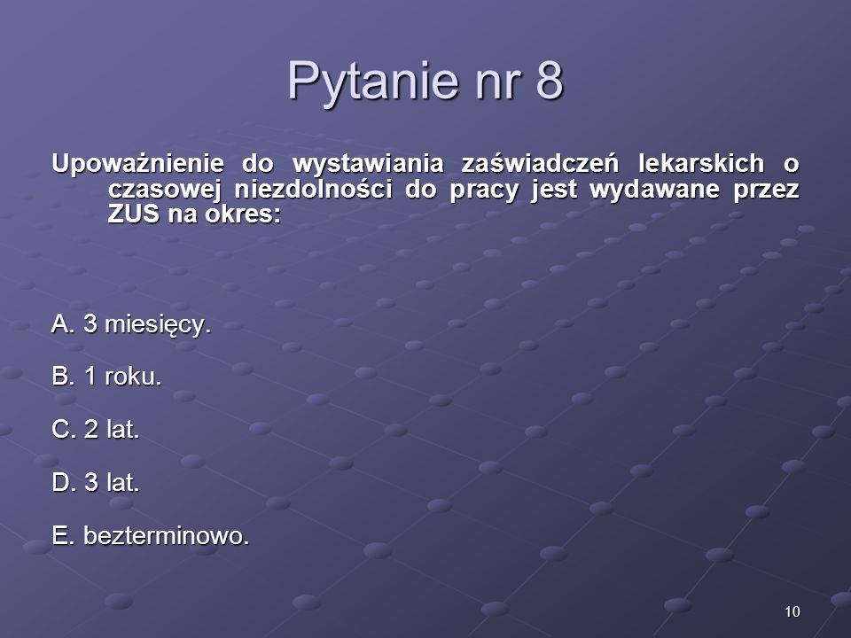 Kariera lekarzaLek. Marcin Żytkiewicz. Pytanie nr 8.