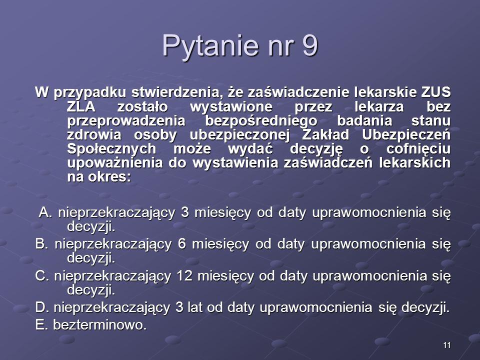 Kariera lekarzaLek. Marcin Żytkiewicz. Pytanie nr 9.