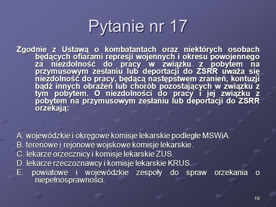 Kariera lekarza Lek. Marcin Żytkiewicz. Pytanie nr 17.