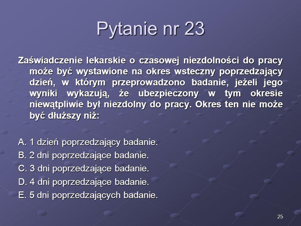 Kariera lekarza Lek. Marcin Żytkiewicz. Pytanie nr 23.