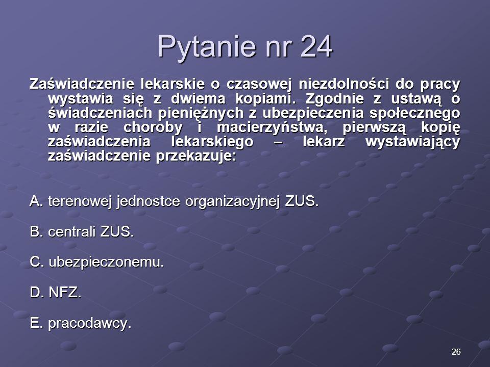 Kariera lekarzaLek. Marcin Żytkiewicz. Pytanie nr 24.