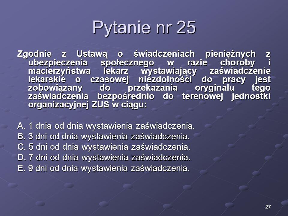 Kariera lekarzaLek. Marcin Żytkiewicz. Pytanie nr 25.