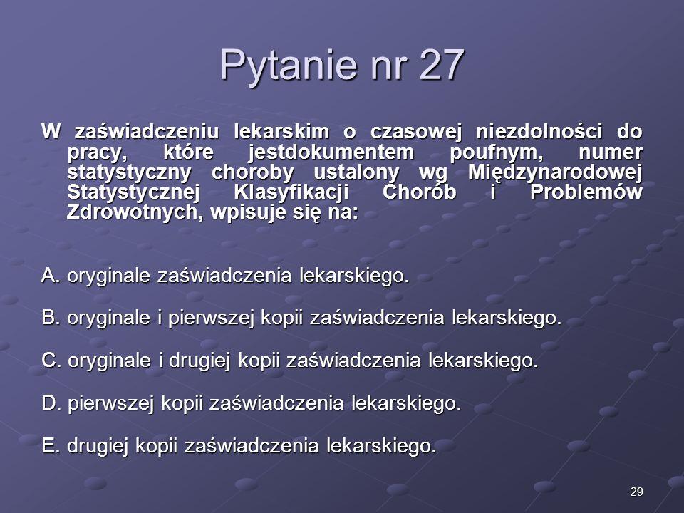 Kariera lekarzaLek. Marcin Żytkiewicz. Pytanie nr 27.