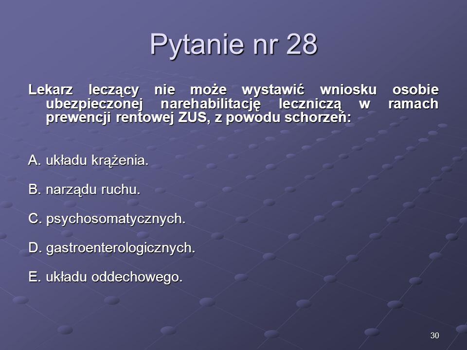 Kariera lekarzaLek. Marcin Żytkiewicz. Pytanie nr 28.