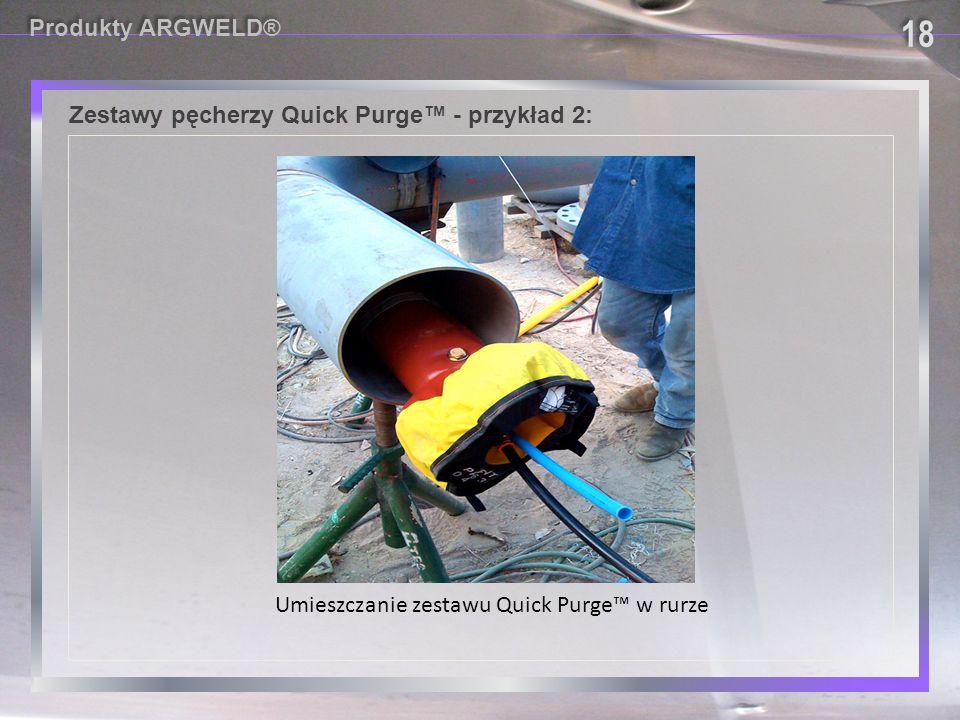 Zestawy pęcherzy Quick Purge™ - przykład 2: