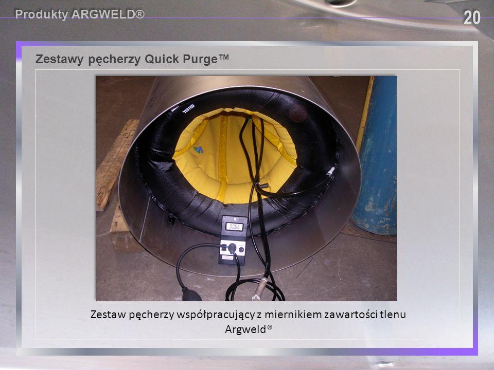 Zestaw pęcherzy współpracujący z miernikiem zawartości tlenu Argweld®