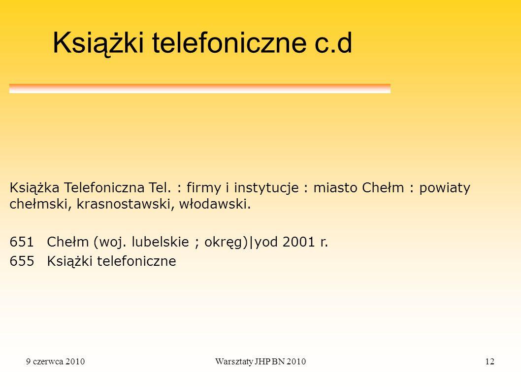 Książki telefoniczne c.d