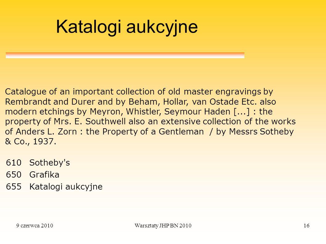 Katalogi aukcyjne