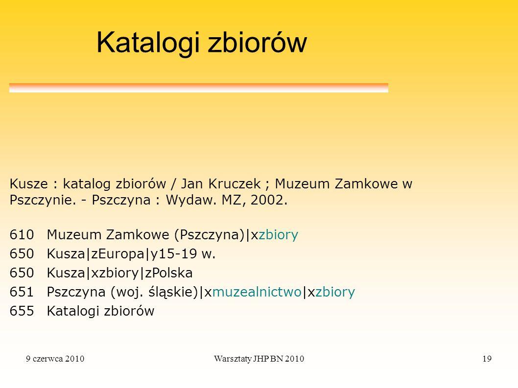 Katalogi zbiorów Kusze : katalog zbiorów / Jan Kruczek ; Muzeum Zamkowe w Pszczynie. - Pszczyna : Wydaw. MZ, 2002.