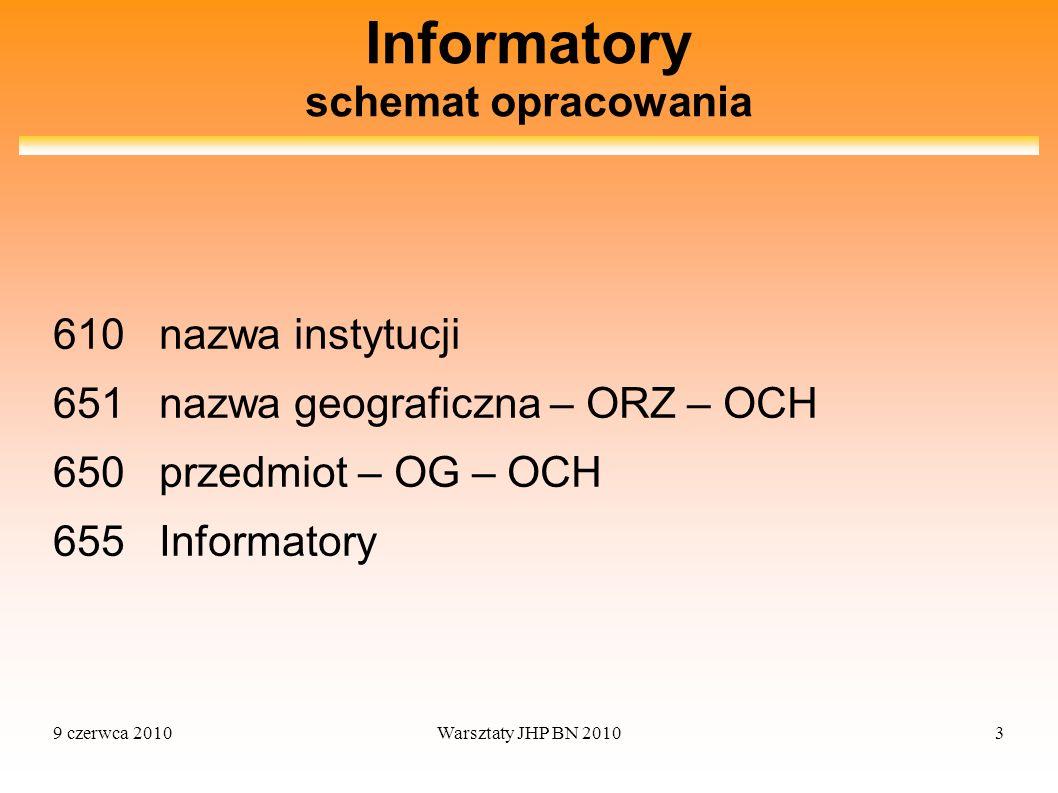 Informatory schemat opracowania