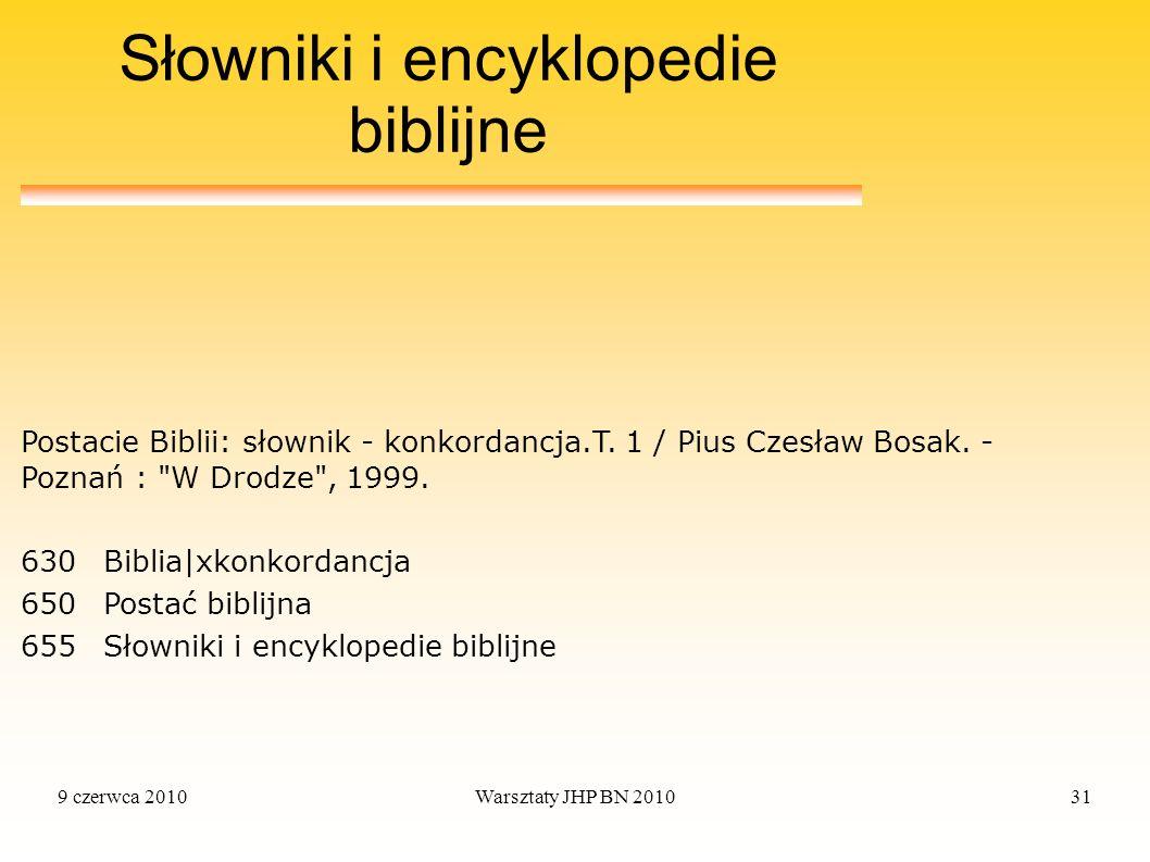 Słowniki i encyklopedie biblijne