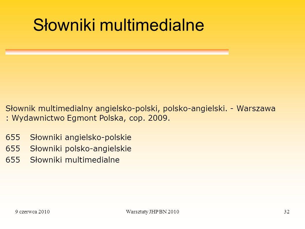 Słowniki multimedialne