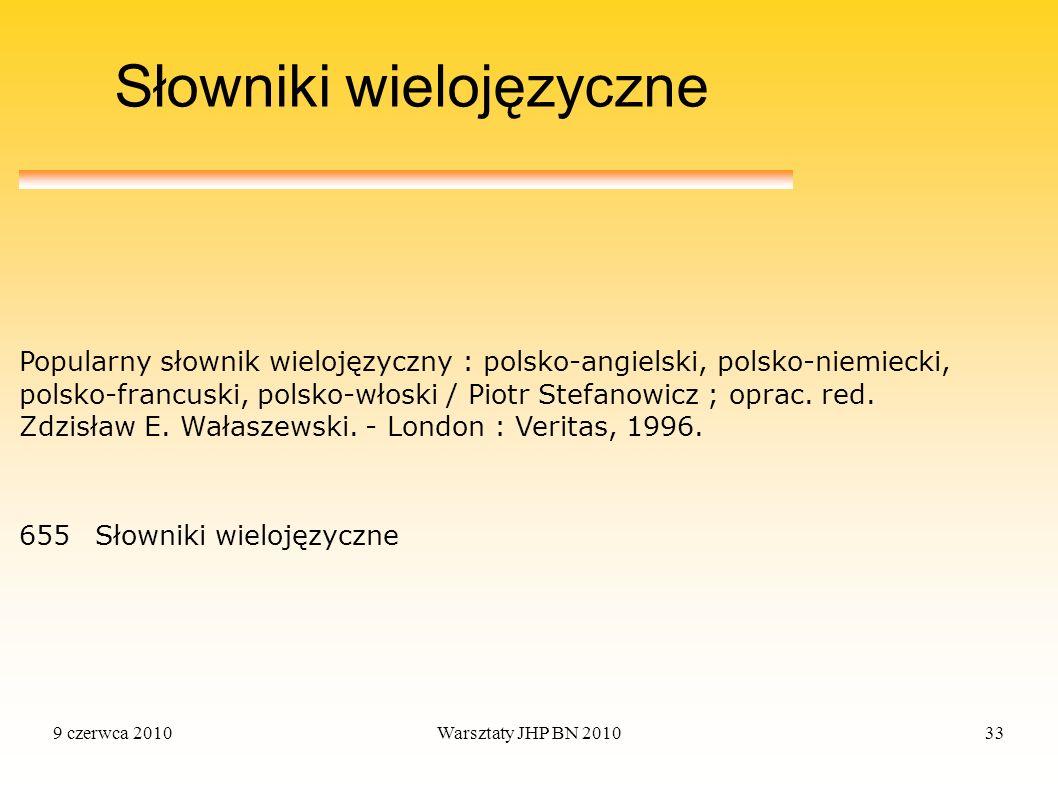 Słowniki wielojęzyczne