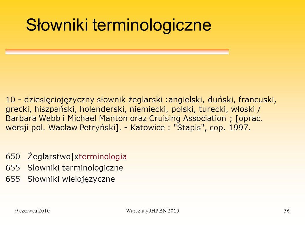 Słowniki terminologiczne